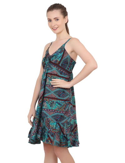 Women's Bohemian Inspired Casual Top Short Dresses in Two Sizes (P224)