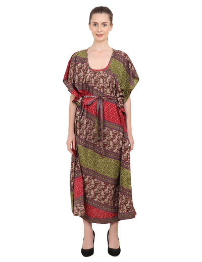 Ethnic Inspired Prints Women's Kaftan Dresses - One Size (P325)