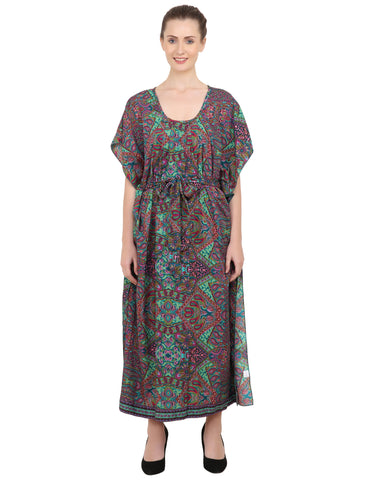 Ethnic Inspired Prints Women's Kaftan Dresses - One Size (P83)