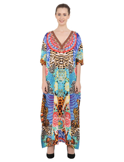Women's Kaftans Loungewear Long Maxi Style Dress - One Size [148-Multi]