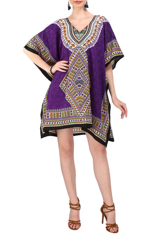 Kaftan Tunic Kimono Dress Ladies Top Caftans - 123