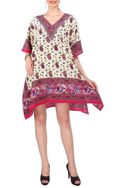 Women's Kaftan Tunic Top Kimono Evening Top Free Size - 120