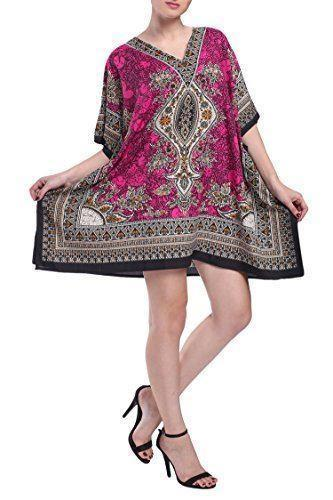 Women's Kaftan Tunic Top Kimono Evening Top Free Size -121