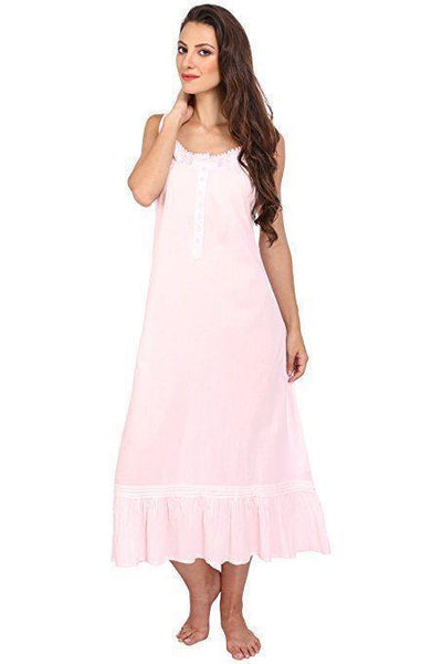Victorian Style Nightgown Long Vintage Nightdress Pink