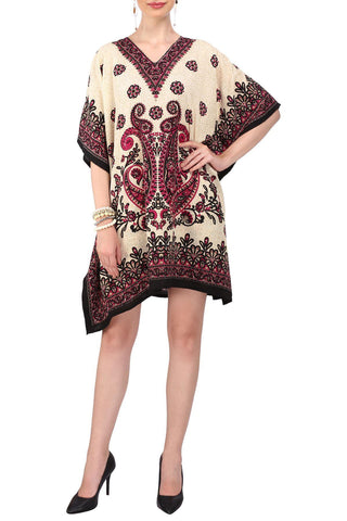 Kaftan Tunic Dress Evening Kimono Style Free Size Top