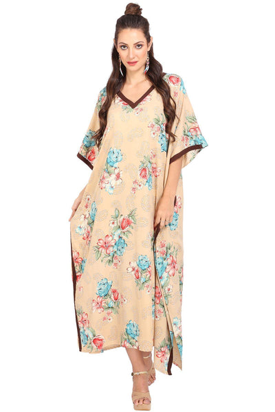 Kaftan Tunic Kimono Dress Ladies Maxi Caftans