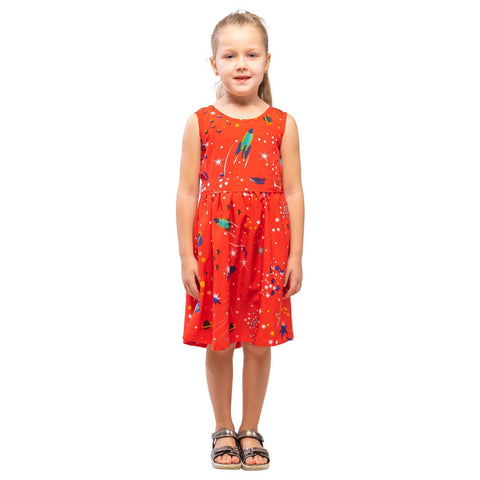 Girls Kids Vintage Audrey Hepburn Style sizes Galaxy Red Age 3 – 12 Years