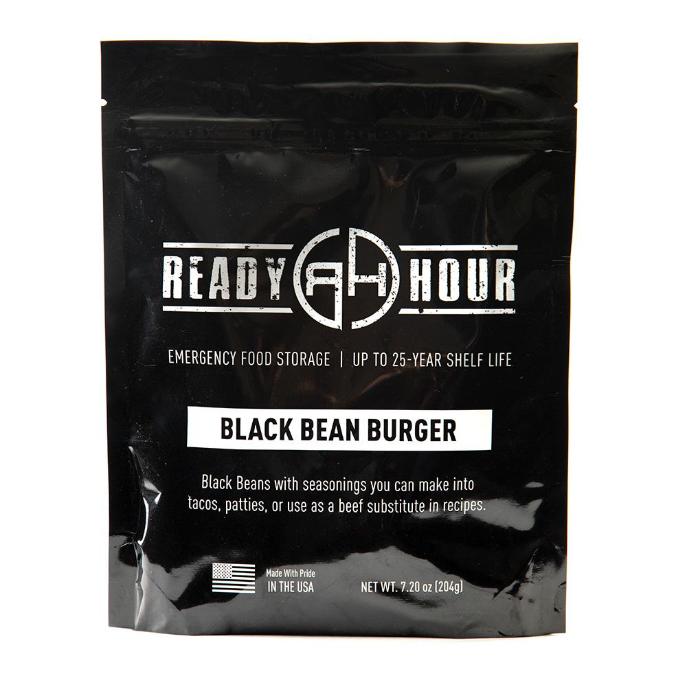 Black Bean Burger Single Package (6 servings) - Ready Hour