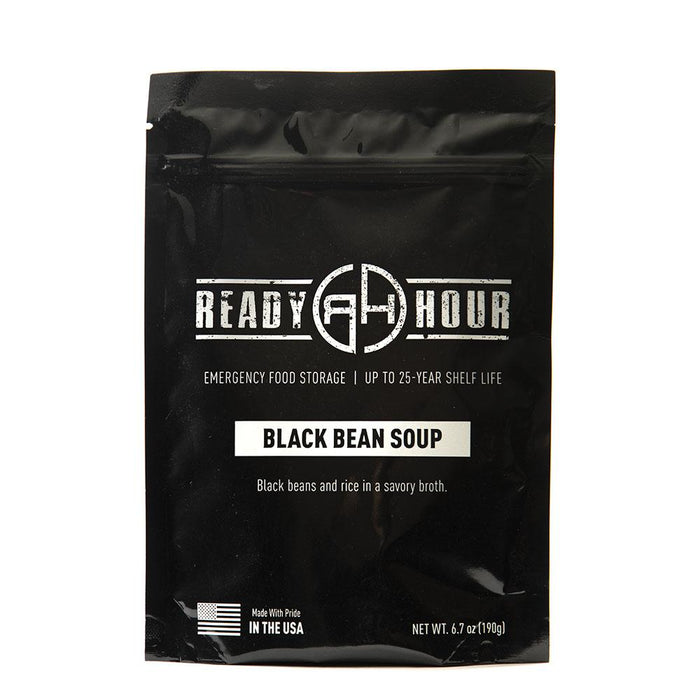 Black Bean Soup Single Package (4 servings) - Ready Hour