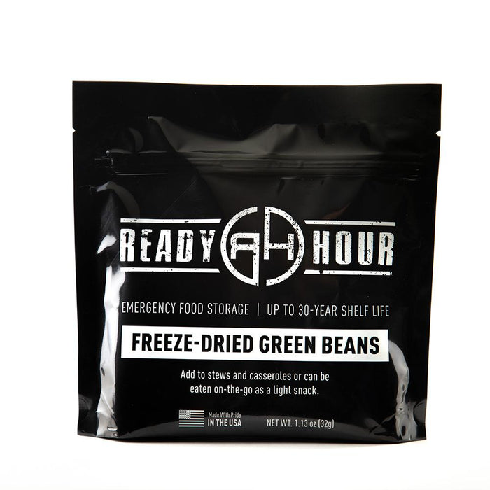 Freeze-Dried Green Beans Single Package (8 servings) - Ready Hour