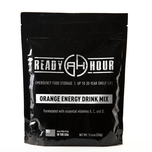 Orange Energy Drink Mix Single Package (8 servings) - Ready Hour