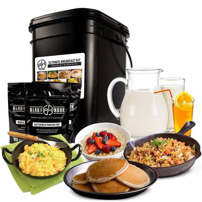 Ready Hour Ultimate Breakfast Kit (138 servings, 1 tote) camping survival