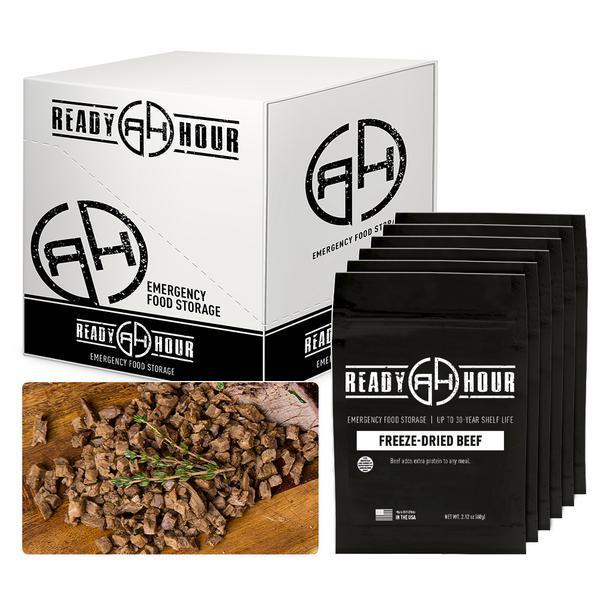 Freeze-Dried Beef Case Pack (24 servings, 6 pk.) ready hour