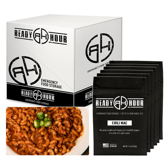Ready Hour Chili Mac Case Pack (48 servings, 6 pk.)