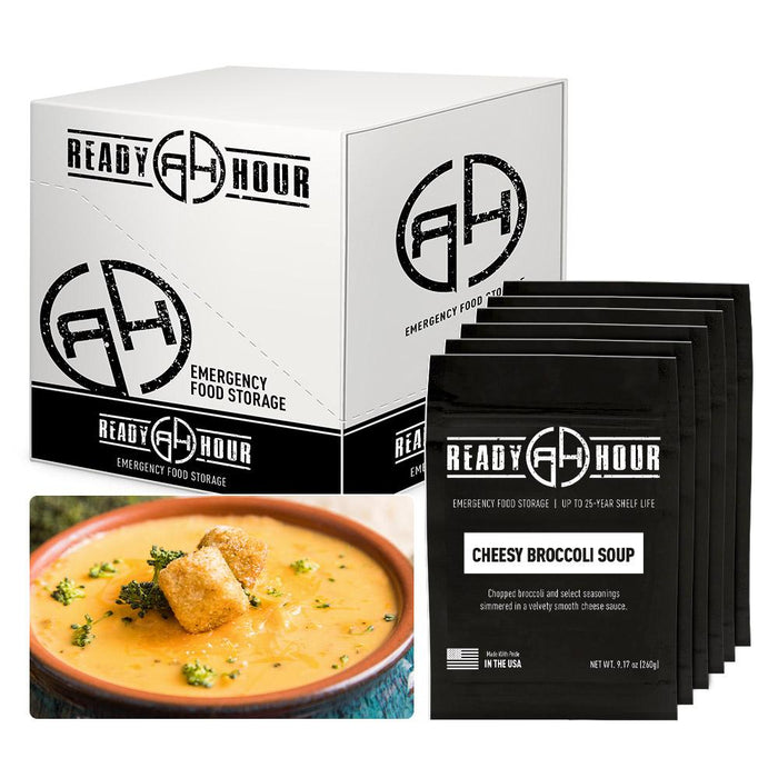 Ready Hour Cheesy Broccoli Soup Case Pack (24 servings, 6 pk.) - Ready Hour