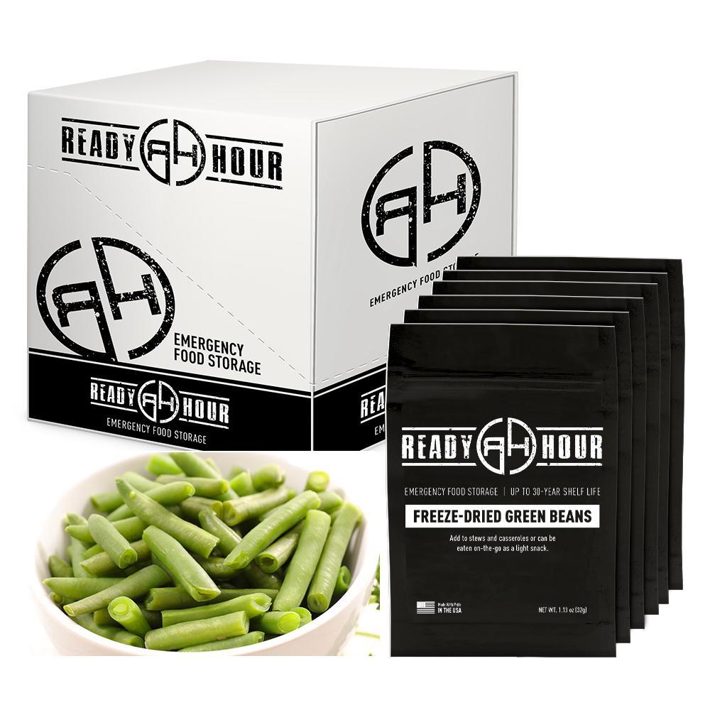 Ready Hour Freeze-Dried Green Beans Case Pack (48 servings, 6 pk.)