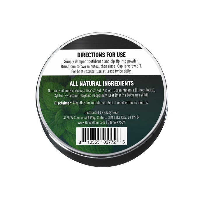 Ready Hour Natural Tooth Powder - Mint Flavor (1 ounce) - Ready Hour