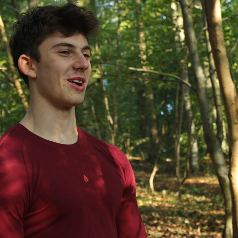Natural sportswear in forest