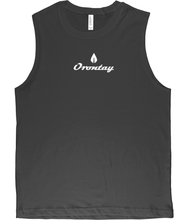 Load image into Gallery viewer, Mens dark grey Orontay series 2 vegan sportswear tank top with Orontay duo logo