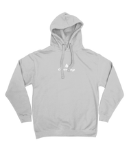 Load image into Gallery viewer, Mens light grey Orontay series 2 vegan sportswear hoodie with Orontay duo logo