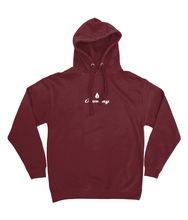 Load image into Gallery viewer, Mens burgundy Orontay series 2 vegan sportswear hoodie with Orontay duo logo