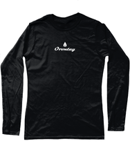 Load image into Gallery viewer, Womens black Orontay series 2 vegan sportswear long sleeve top with Orontay duo logo