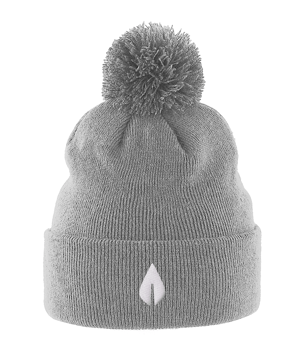 Unisex light grey Orontay series 2 vegan sportswear pom pom beanie with sprite logo