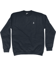 Load image into Gallery viewer, Unisex navy Orontay series 2 vegan sportswear jumper with Orontay sprite logo