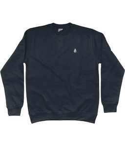 Unisex navy Orontay series 2 vegan sportswear jumper with Orontay sprite logo