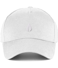 Load image into Gallery viewer, Unisex white Orontay series 2 vegan sportswear curve cap with sprite logo