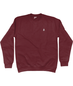 Unisex burgundy Orontay series 2 vegan sportswear jumper with Orontay sprite logo