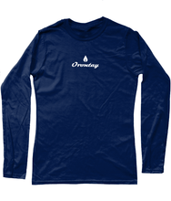 Load image into Gallery viewer, Womens navy Orontay series 2 vegan sportswear long sleeve top with Orontay duo logo