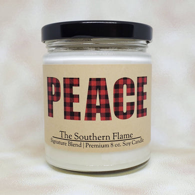 PEACE Christmas Candle | 2020 Christmas Gifts | Personalized Candles