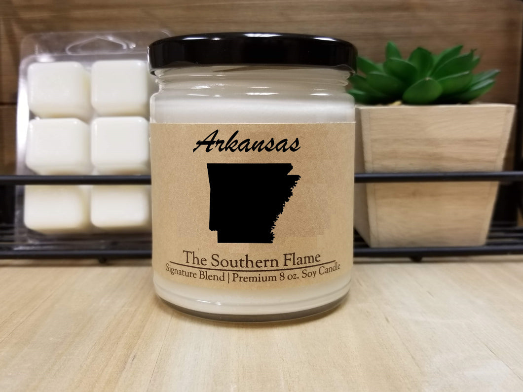 Arkansas State Candle | Homesick Candle | Long Distance Gift