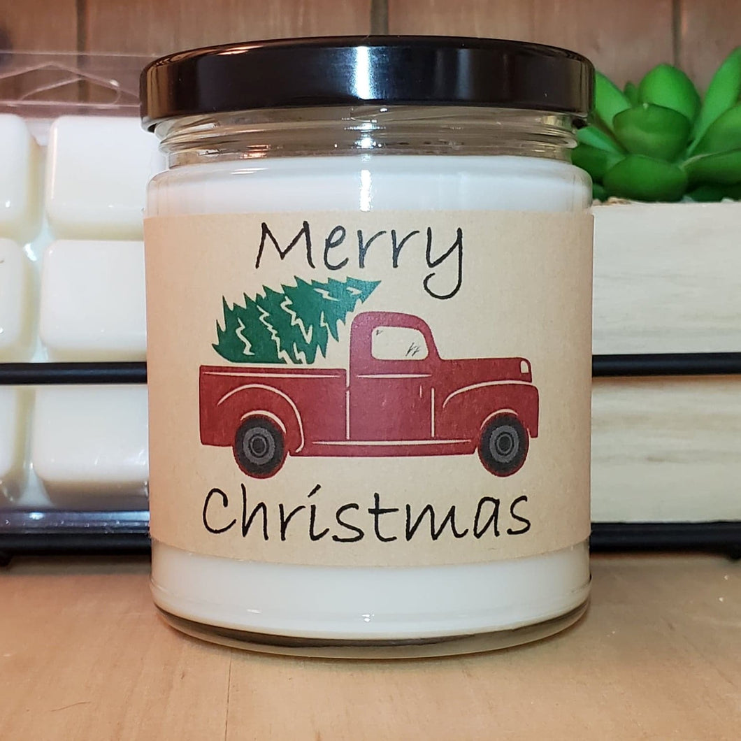 Little Red Truck Christmas Tree Candle | 2020 Gifts | Personalized Candles