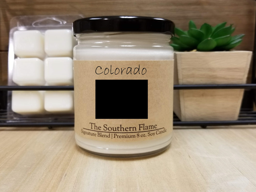 Colorado State Candle | Homesick Candle | Long Distance Gift