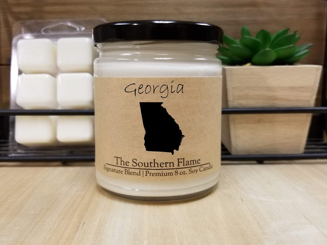 Georgia State Candle | Homesick Candle | Long Distance Gift