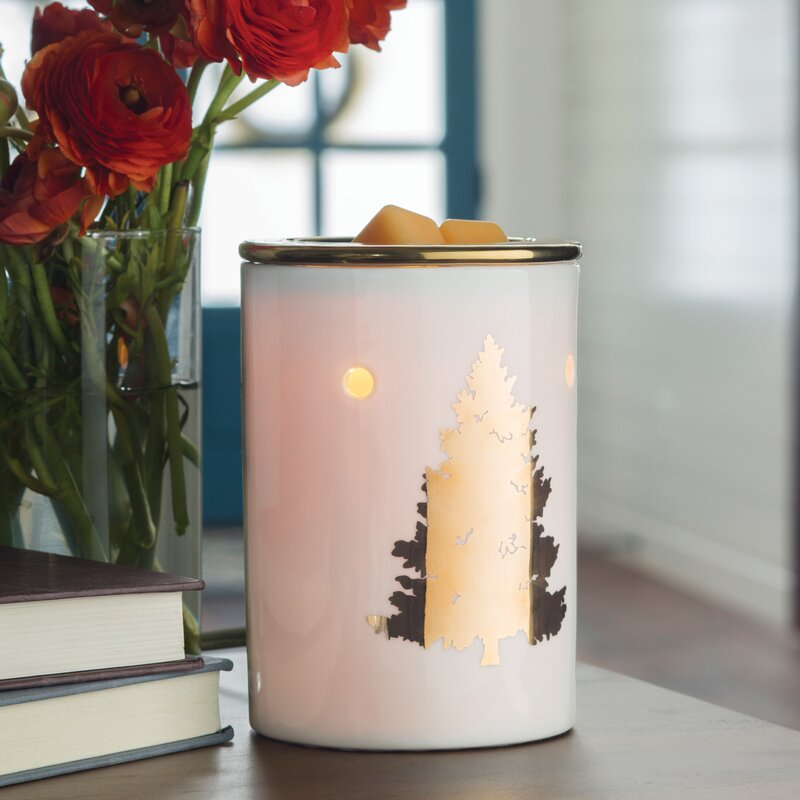 Gold Tree Wax Warmer | Christmas Tree Decor