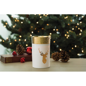 Gold Deer Wax Warmer | Christmas Deer Decor