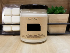 Kansas State Candle | Homesick Candle | Long Distance Gift