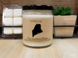 Maine State Candle | Homesick Candle | Long Distance Gift