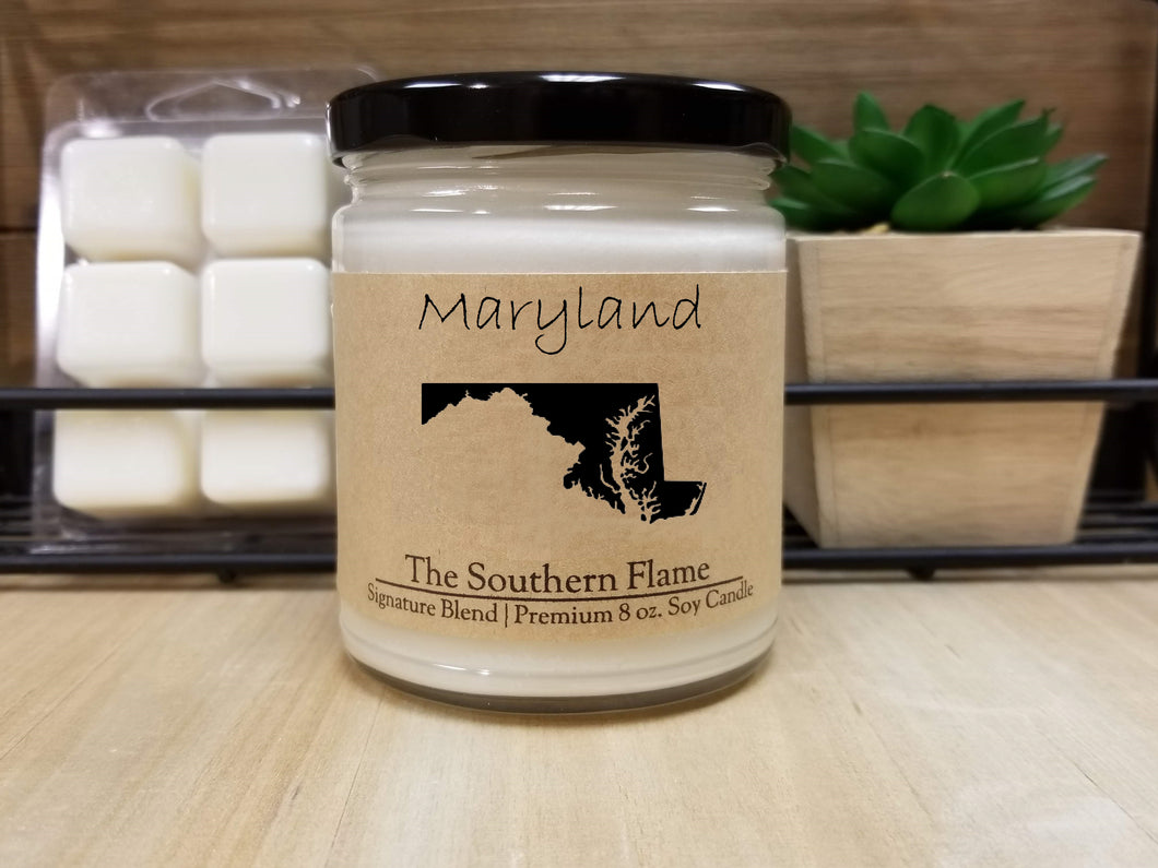 Maryland State Candle | Homesick Candle | Long Distance Gift