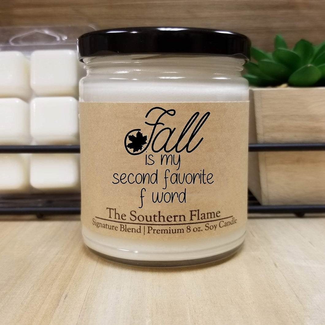 Fall is my second favorite F word | Personalized Soy Candle