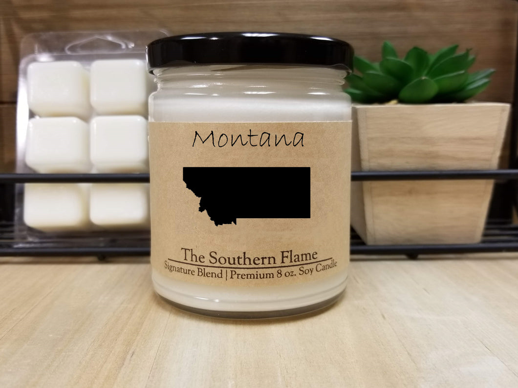 Montana State Candle | Homesick Candle | Long Distance Gift