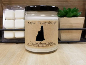 New Hampshire State Candle | Homesick Candle | Long Distance Gift