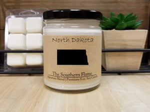 North Dakota State Candle | Homesick Candle | Long Distance Gift