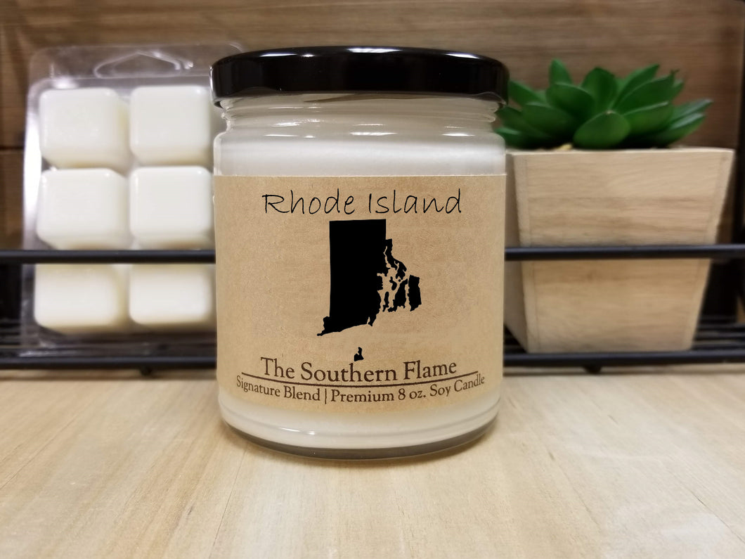 Rhode Island State Candle | Homesick Candle | Long Distance Gift