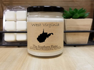 West Virginia State Candle | Homesick Candle | Long Distance Gift