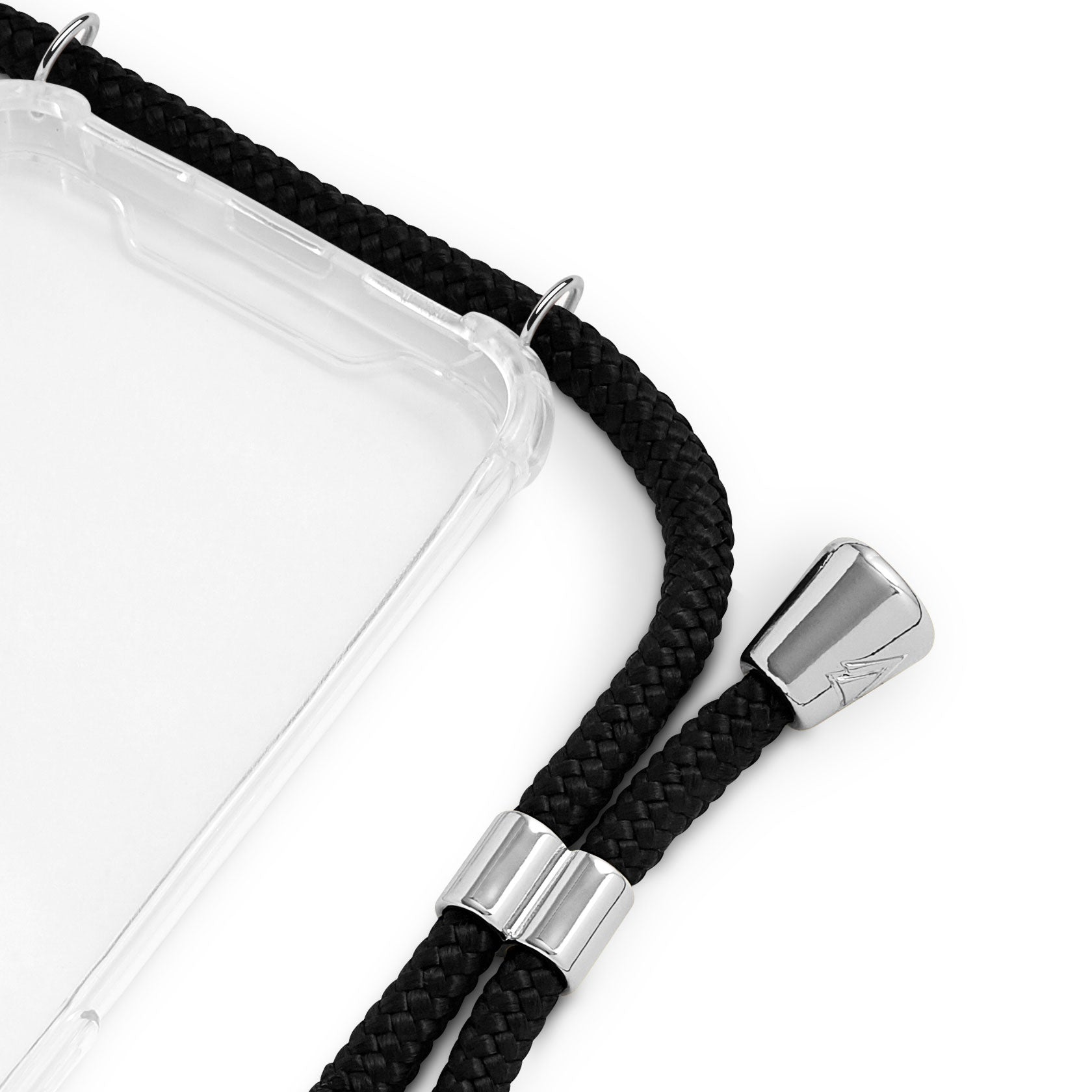 Phone Case Necklace | N°01 BLACK SILVER | Cicerly