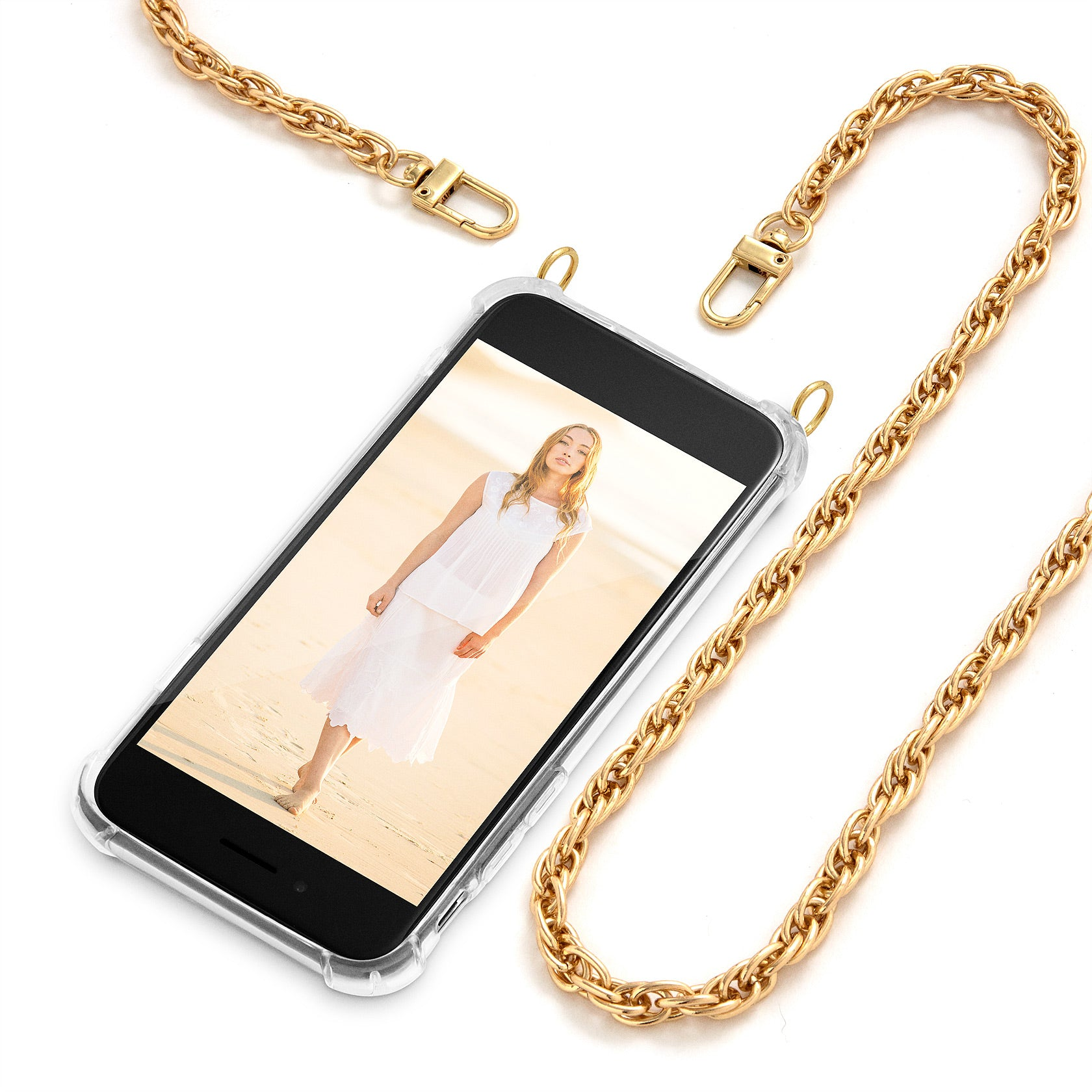 Cross Body Phone Case Necklace | N°7 GLAM GOLD | Cicerly